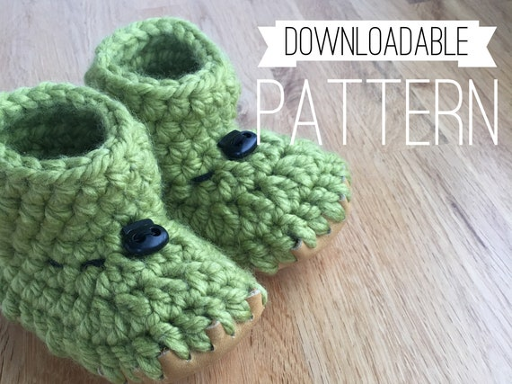 6 to 12 Month Slipper DOWNLOAD PATTERN