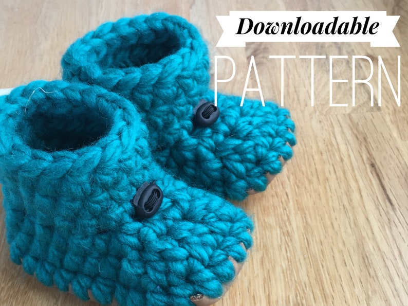 5dedae7e79880 12 to 24 Month Toddler Baby Slippers, DOWNLOAD PATTERN, pattern  downloadable make your own slippers knit crochet leather sole crib shoe