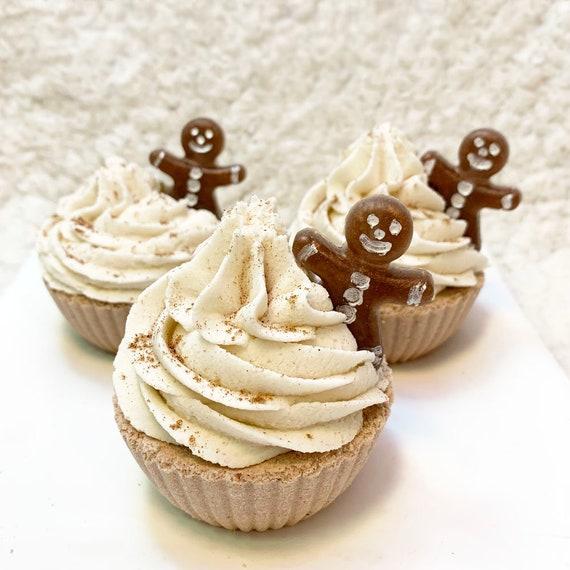 Gingerbread Man Cupcake Bath Bomb