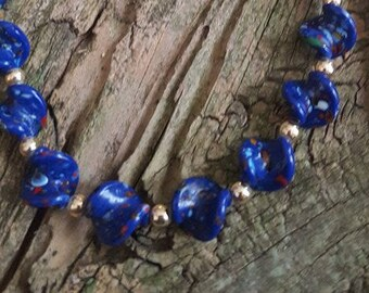 Vintage Murano Glass Twist Necklace