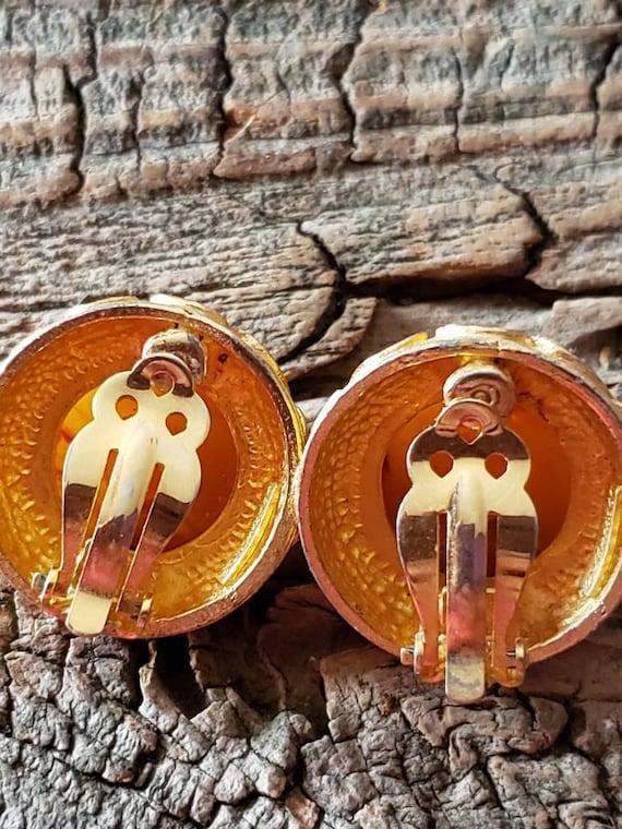 Vintage Maresco clip on earrings. Clip on earring… - image 7
