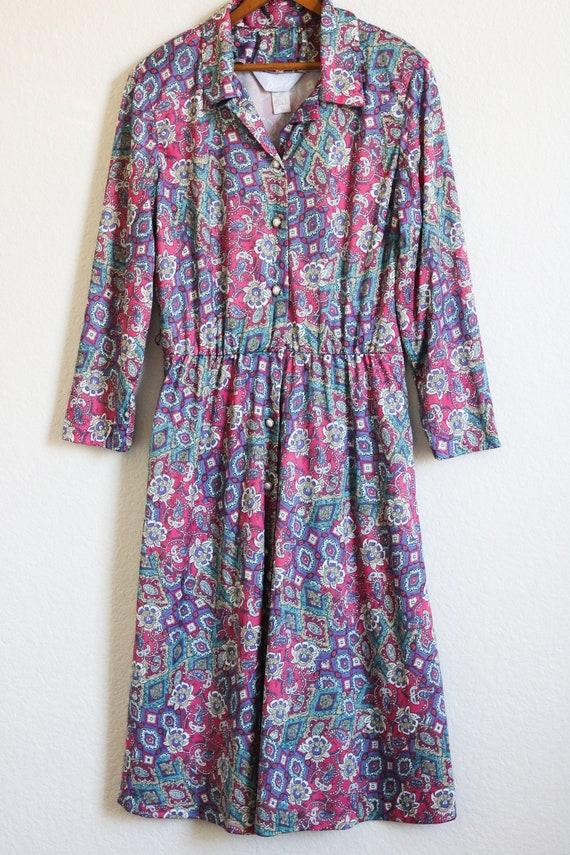 80s Dress Plus Size Vintage