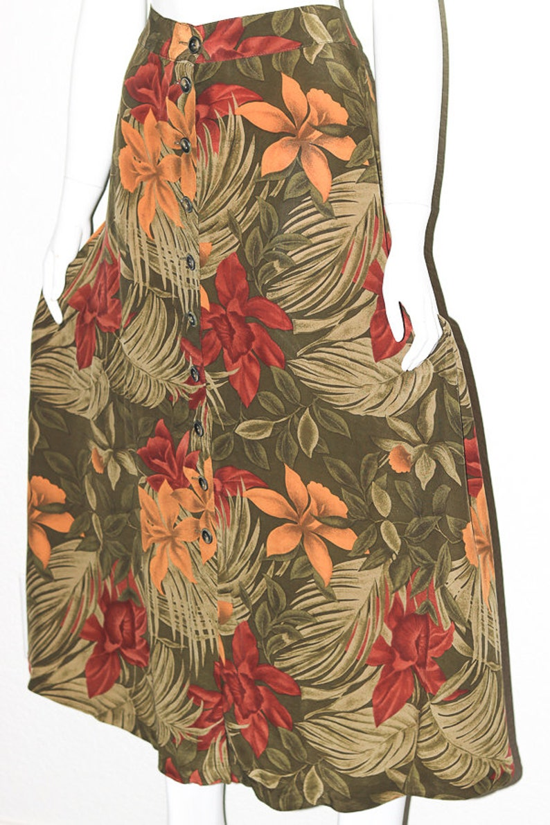 90s Plus Size Vintage Jones New York Skirt Silk Skirt