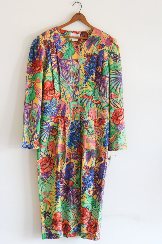 Plus Size Vintage Dress 80s Dress