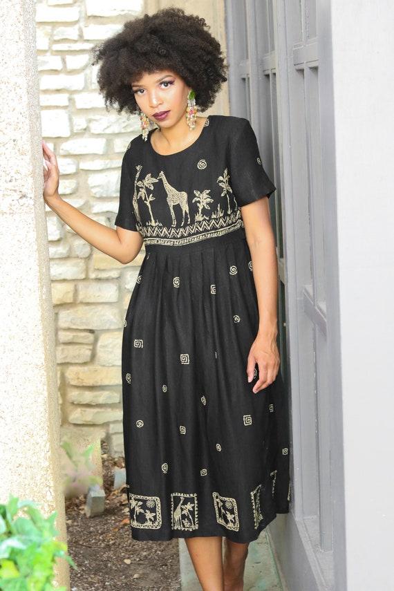Market Dress Vintage Dress Vintage Animal Print Dr