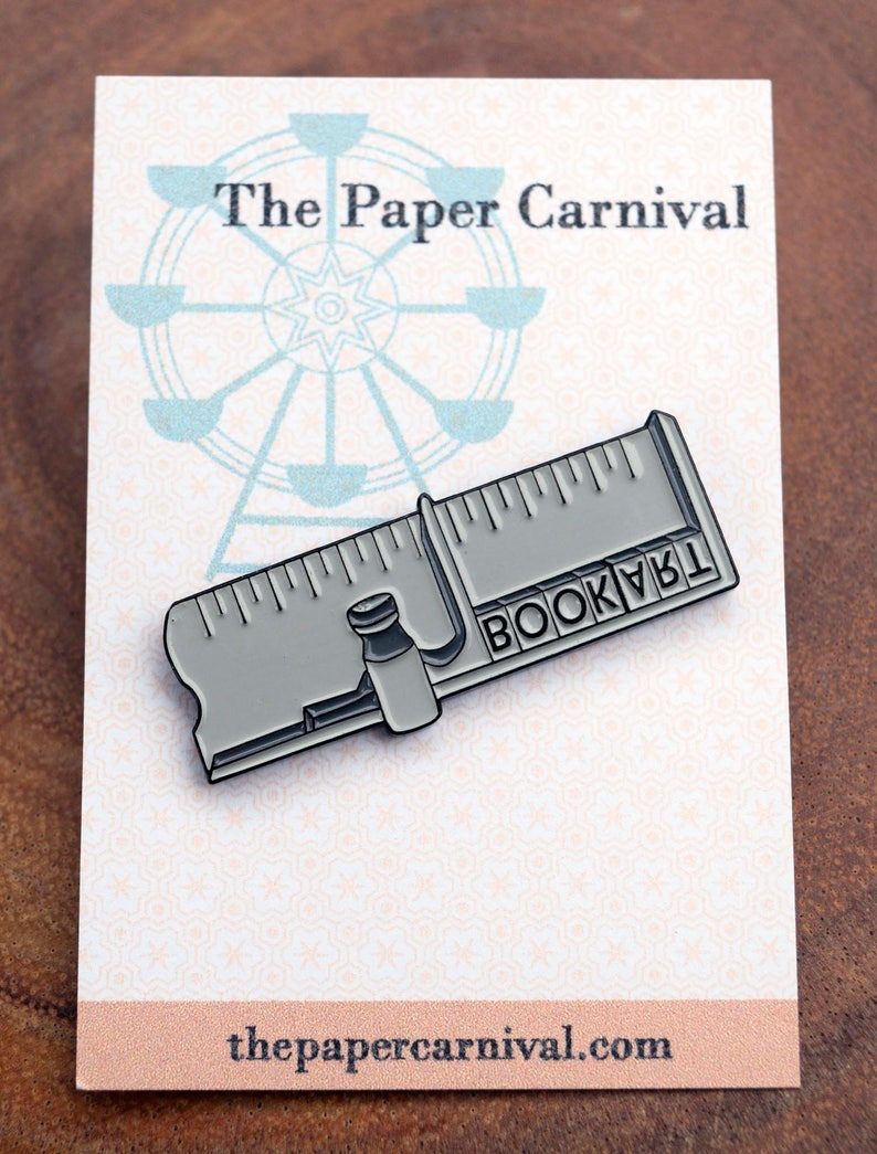 Letterpress Metal Type Composing Stick Enamel Pin image 0