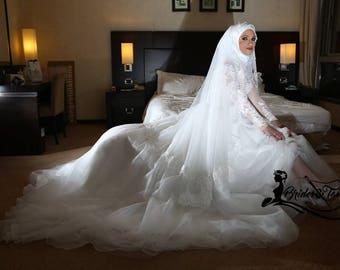 5bb71d3aa98c Hijab Muslim Modest Wedding Dress