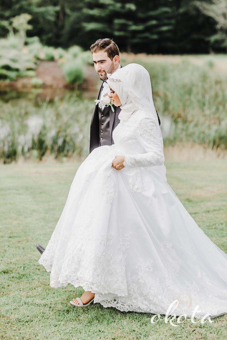Custom Modest Wedding Dress/ Custom Hijab Wedding Dress / image 0