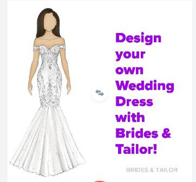 Custom Bridal Gown With Brides Tailor Design Your Own Etsy,Dresses For Weddings Guests Uk