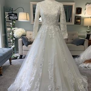 Custom Modest Wedding Dress Hijab Wedding Dress Conservative Etsy