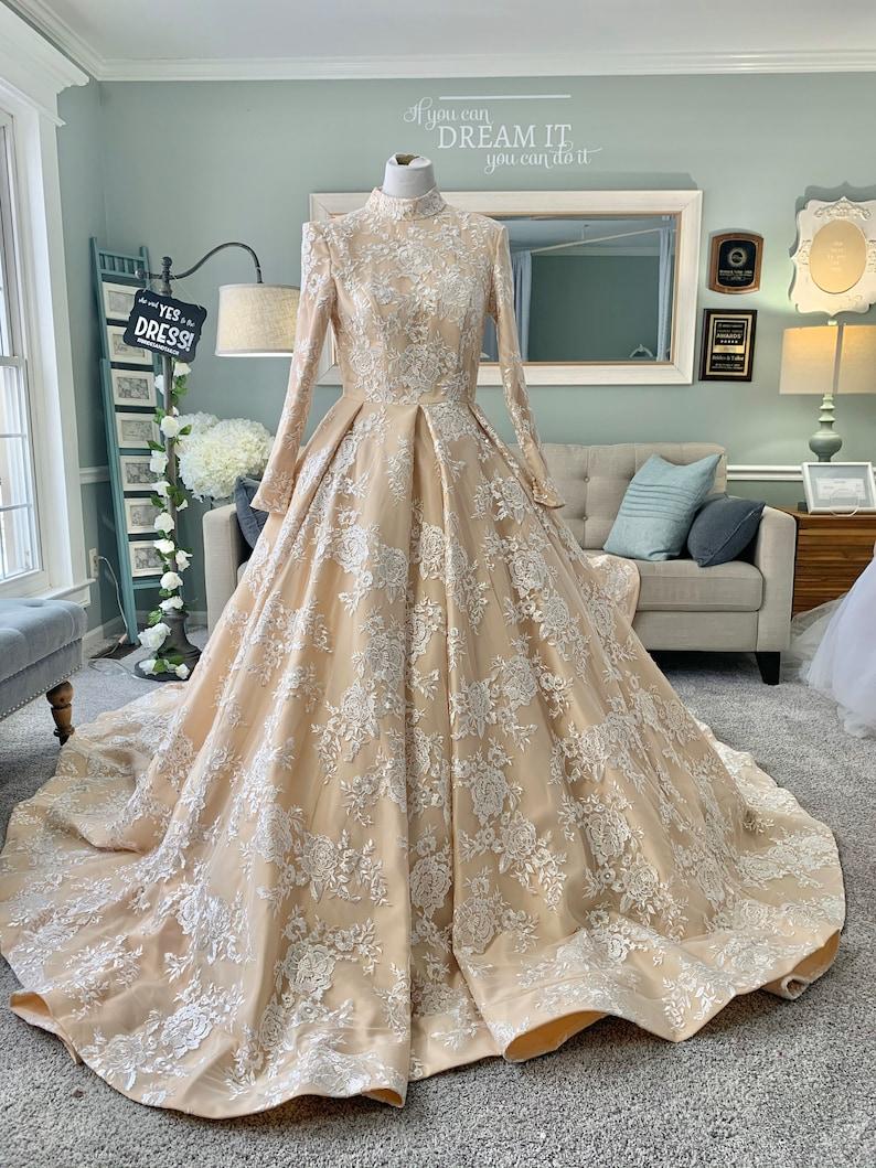 Custom Long Sleeves Wedding Dress by Brides & Tailor  USA image 0