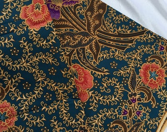 Adelia - Authentic Malaysian Hand Painted Batik (Turquoise)