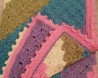 baby blanket, rainbow colors, mainly for girls
