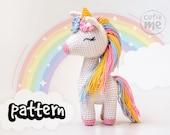PATTERN Lucy the Unicorn. PDF crochet unicorn pattern, cute crochet unicorn, Amigurumi Unicorn