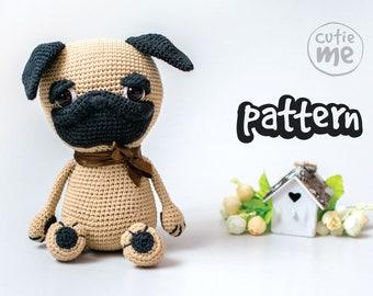 9e744fac93f PATTERN Garik the Pug. PDF crochet dog pattern