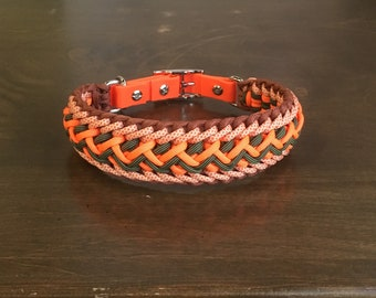 Thick & Wide! Custom made Paracord Dog Collar - Adjustable - Ready to Ship