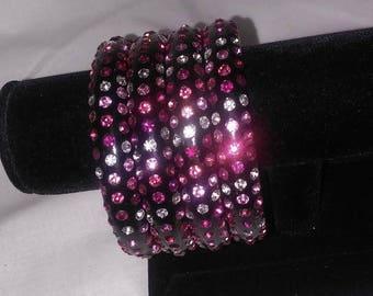 Black and Pink Bling Bracelets