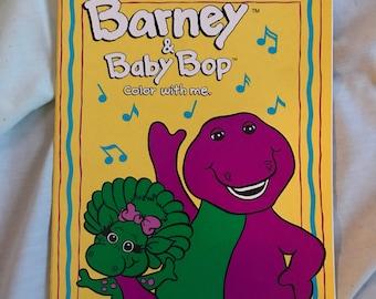 Barney coloring book | Etsy
