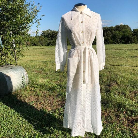 Dotti 1970s vintage sheer lace dress
