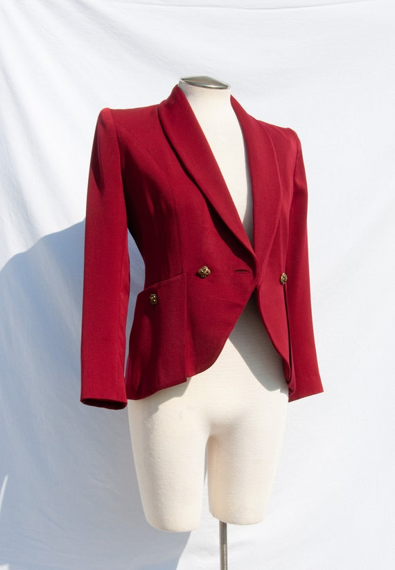 Nobility Jrs 1940s Handsewn Maroon Red Jacket/Blaz