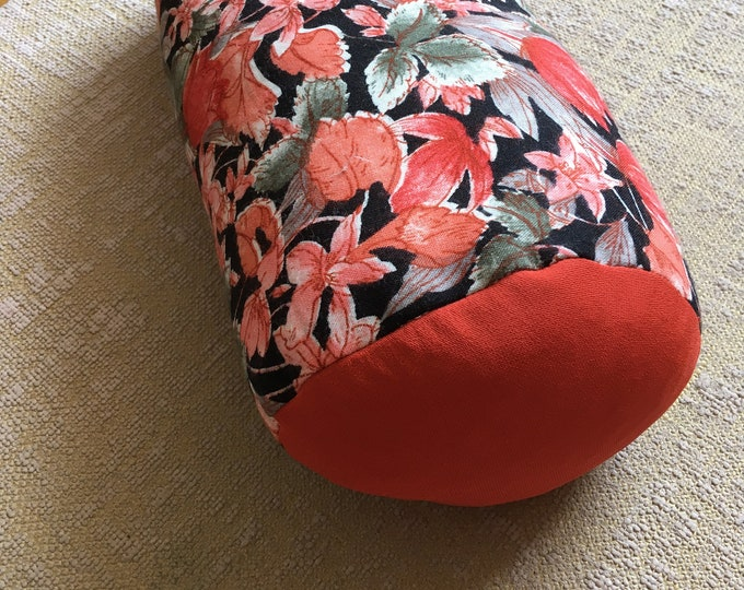 Lavender cushion of France Provence relaxation interior decoration orange fabric in cotton meditation yoga wellness accessory