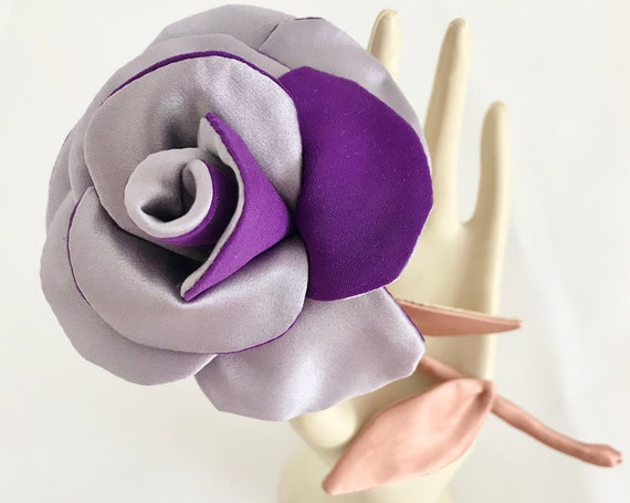 Floral jewelry brooch inspired by pink fashion accessory for women