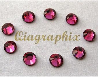 288 Pcs (2 gross) DMC Iron On Hotfix Crystal Rhinestones Rose Pink SS30 6aea05db86ed