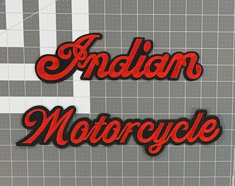 Indian Motorcycles Vest Jacket Back Biker Patch 10-3//4 Inches Wide XL