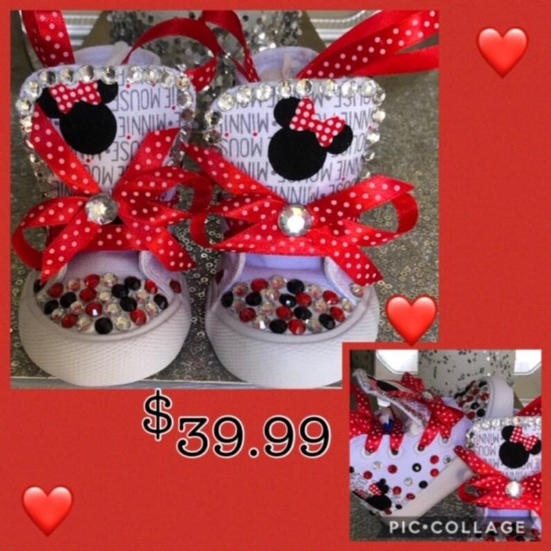 Minnie Inspired Sneakers*Minnie Sneakers*Minnie Bling Sneakers*Minnie High Tops *Minnie Kicks*Minnie Tutu*Minnie Outfit* Minnie Tee*Minnie*