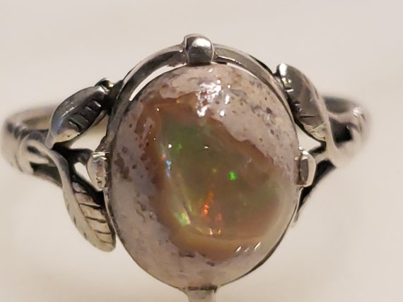 Vintage Opal Ring / Cantera Opal Ring / Sterling s