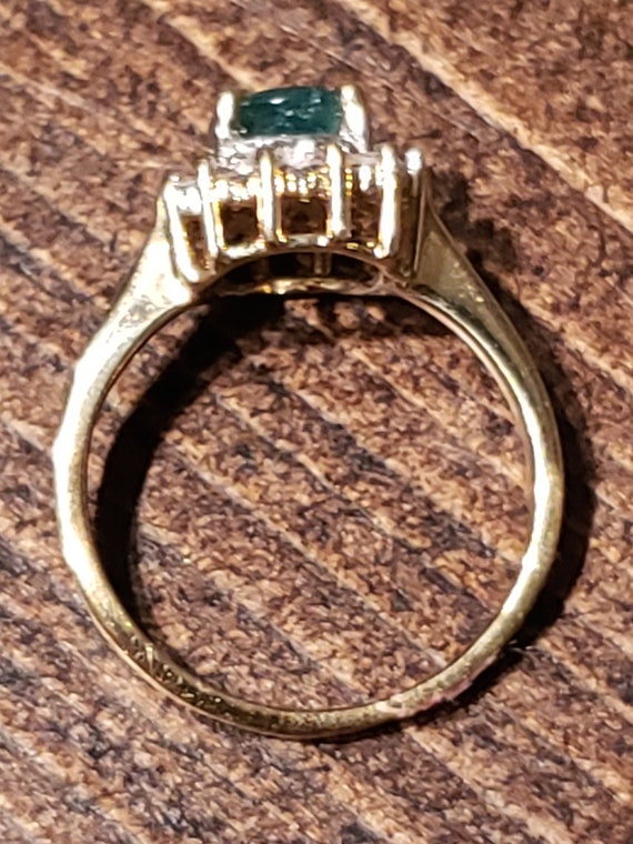 Oval Emerald Engagement Ring / Natural Emerald Ri… - image 10
