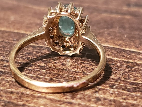 Oval Emerald Engagement Ring / Natural Emerald Ri… - image 5