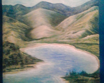 Land of Mountains: Original Painting, Landscape Painting, Acrylic Painting