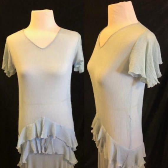 1920's Blue Flapper Dress