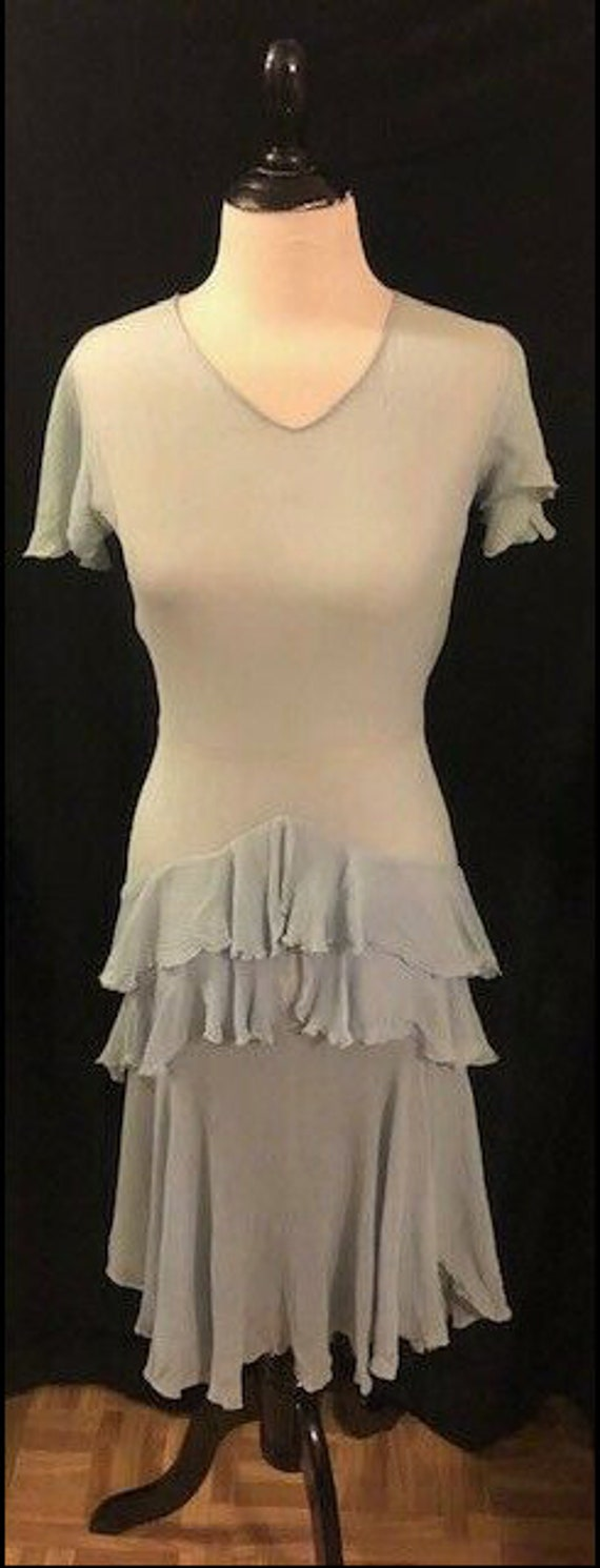 1920's Blue Flapper Dress - image 2