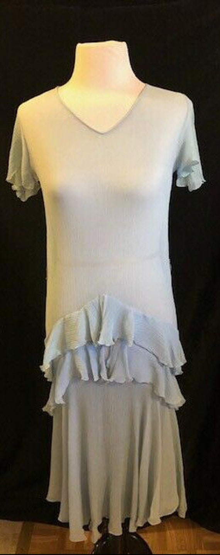 1920's Blue Flapper Dress - image 7