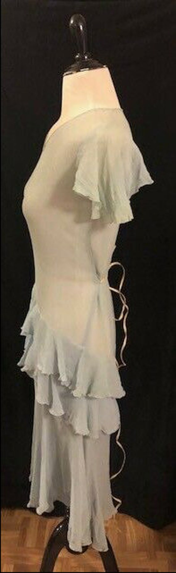 1920's Blue Flapper Dress - image 4