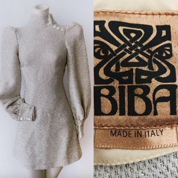 RARE BIBA Metallic Mini Dress