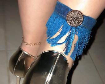 Designer Inspired Custom Remix Ankle Bracelet