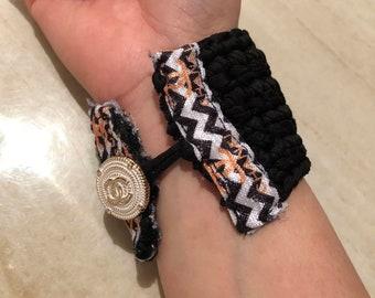 Remix Inspired Custom Crotchet Cuff Bracelet