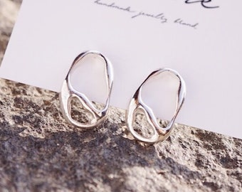 925 Sterling Silver earring,Ice Wave earring, Minimalist Jewelry