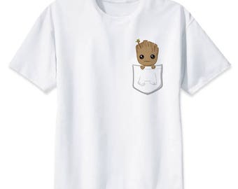 Baby Groot Shirt - Men's Gift Unisex Gift T-Shirt - Nerd Clothing Otaku - Gym Wear Sleep Wear Pajamas - Guardians Of The Galaxy Clothes