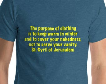 St. Cyril  Short-Sleeve T-Shirt Yellow Lettering