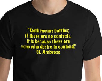 St. Ambrose Short-Sleeve T-Shirt Yellow Lettering