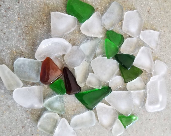 Lake Michigan Beach Glass 40 pieces