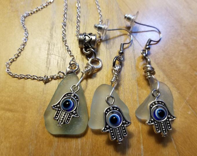 Hamsa Jewelry Set