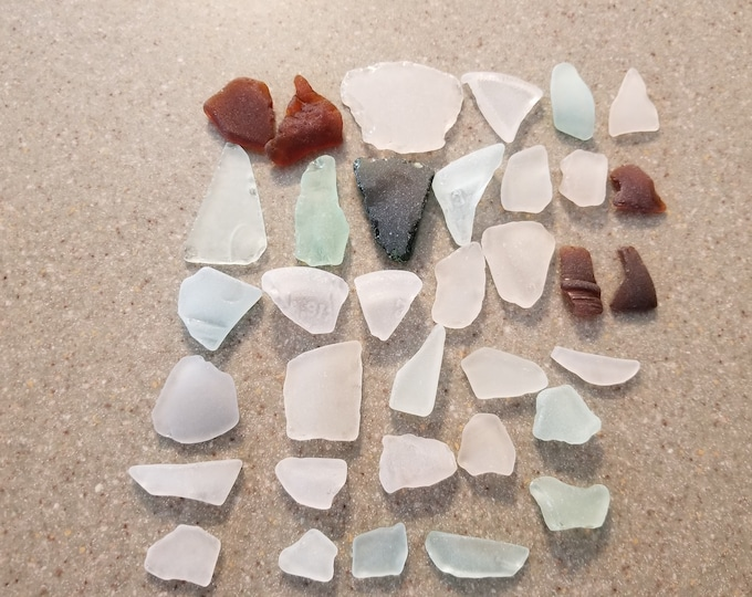 Lake Michigan 35 piece Bulk Beach Glass