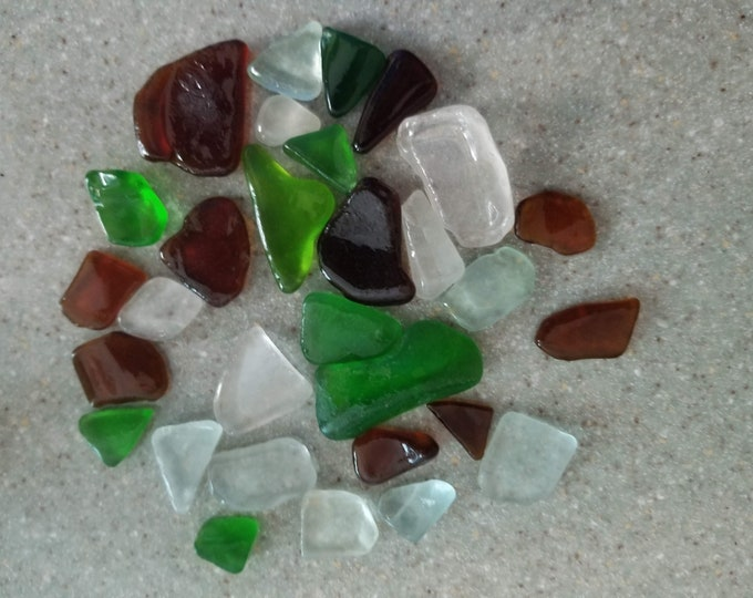 Lake Michigan Beach Glass Bulk 30 Pieces