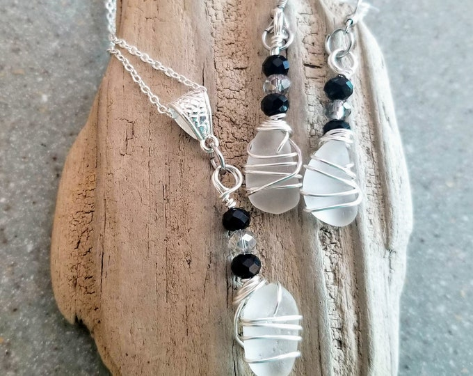 Beach Glass Jewelry Set