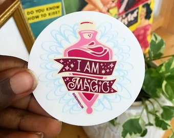 I Am Magic Sticker | Motivational Sticker | Water Bottle Sticker | Laptop Sticker | Planner Sticker